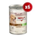 Bonacibo  Jöleli Kuzu Etli Yaş Yetişkin Köpek Maması  400 gr 6 Adet