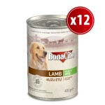 Bonacibo  Jöleli Kuzu Etli Yaş Yetişkin Köpek Maması  400 gr 12 Adet